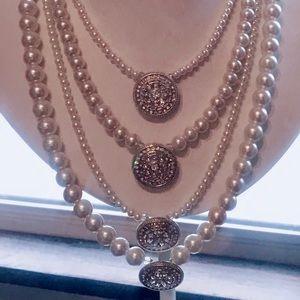 Handmade multi-strand necklace & earrings